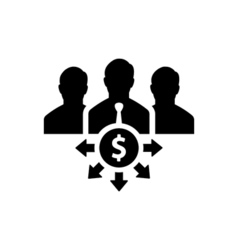 investor icon flat vector image
