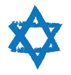 Judaic symbol of magen david or david star vector