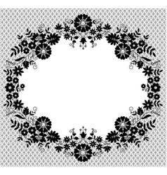 lace flower frame vector image