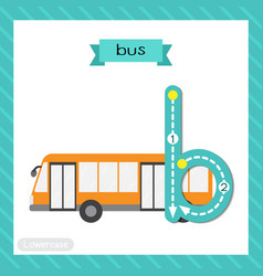 Letter b lowercase tracing bus vector