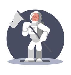 man cosmonaut in helmet vector image