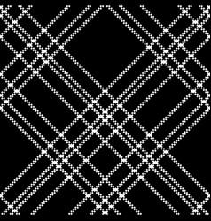 Monochrome check plaid black pixel seamless vector