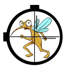Mosquito on target vector