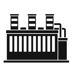 Oil refinery plant icon simple style vector