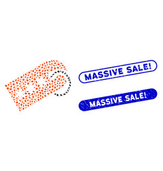 Oval collage secret tag with distress massive sale vector