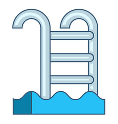 Pool with stairs icon cartoon style vector