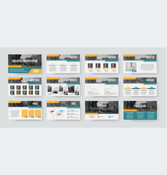 Presentation slide template infographics ready to vector