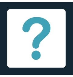 Question flat blue and white colors rounded button vector