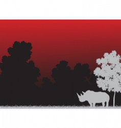 Rhino clouds vector