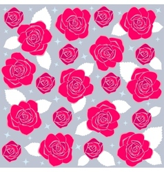 rose pattern2 vector image