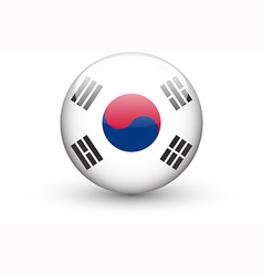 round icon with national flag south korea vector image