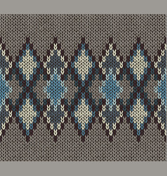 seamless knitted pattern fashionable modern style vector image