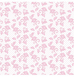 seamless pattern floral ornament background design vector image