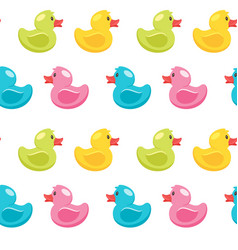 seamless pattern with duck vector image