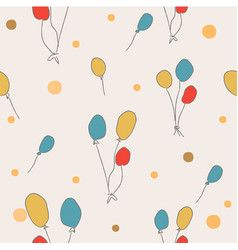 Seamless pattern with floating balloons on white vector