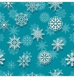 Seamless white snowflakes vector image