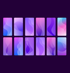 set 12 trendy abstract backgrounds for mobile vector image