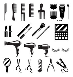 Set of beauty salon tools vector