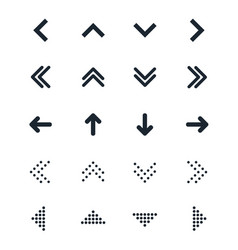 set of different black arrows icon vector image