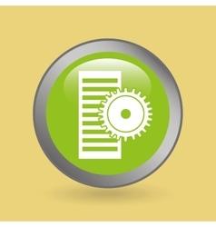 Silhouette head technical work icon graphic vector