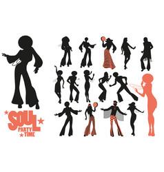 soul dance clipart collection set soul funk or vector image