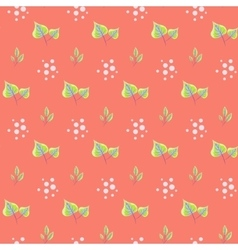 Spring green leaves seamless pattern vector image