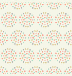 Sweet baby pastel star circles geometric seamless vector