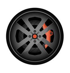 Titanium auto rim icon vector
