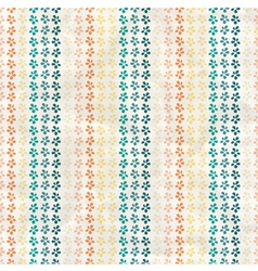 Vintage Pattern with tropic flowers vector