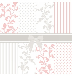 Vintage set with floral ornaments vector