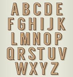 Vintage Style Alphabets Set vector image