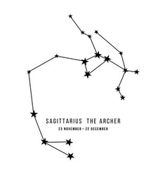 Zodiac constellation sagittarius vector