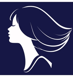 Beautiful Girl Face Silhouette vector image vector image