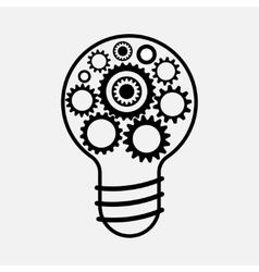 Cogwheel lamp sign icon creative idea symbol vector