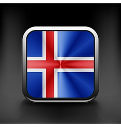 Iceland icon flag national travel icon country vector image
