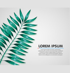 summer background poster with palm leaf vector image vector image
