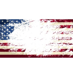 American flag Grunge background vector image