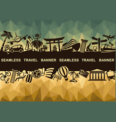 banner with symbols of travel vector image