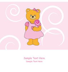 bear lollipop vector image