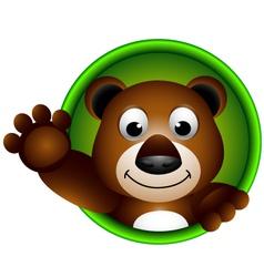 cute bear head cartoon vector image vector image