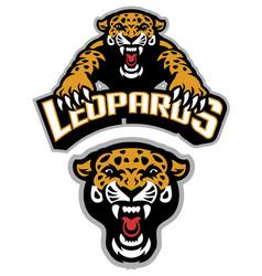 leopard mascot set vector image vector image