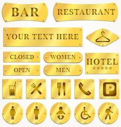 metal sign plates vector image