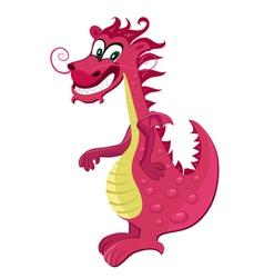 red dragon cartoon vector image vector image