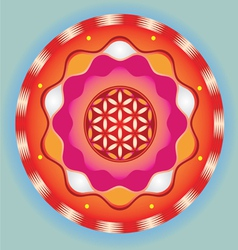life seed bright meditative sign vector image vector image