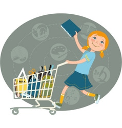 Back to school shopping vector image vector image