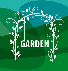 logo swing from vegetable pattern vector image