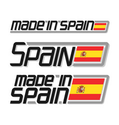made in spain vector image