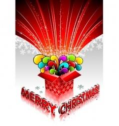 magic gift box vector image vector image