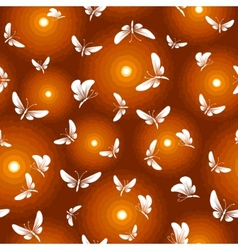 night butterfly moth seamless vector image