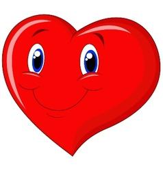 Red heart cartoon vector image vector image